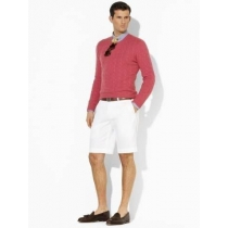 Polo Classic-Fit Pleated Short White