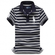 Polo Custom-Fit Striped  Big Pony PoloShirt