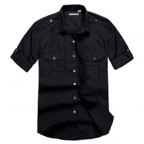 Burberry Men's Cargo Short Sleeve Shirt
