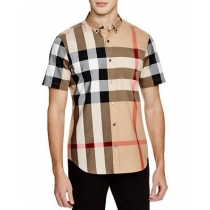 Burberry Fred Short Sleeve Slim Fit Button Down Shirt