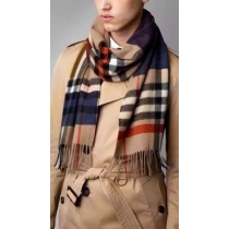 Burberry Multi Color Giant Check Cashmere Scarf