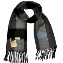Burberry Exploded Check  Gray Cashmere Scarf