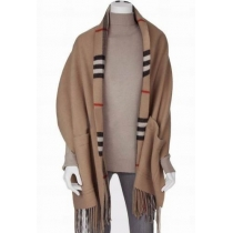 Burberry Checks With Patch Pockets  Wool & Cashmere Cape