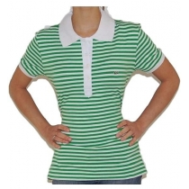Lacoste  Women's Stripe Short Sleeve Polo Shirt