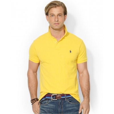 ... Polo Ralph Lauren CUSTOM-FIT Mesh Polo Shirt ...