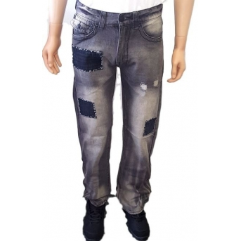 True Religion Patched Geno Slim-Straight Jeans Closeout