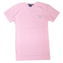 Polo Ralph Lauren Women's V Neck T Shirts Pink