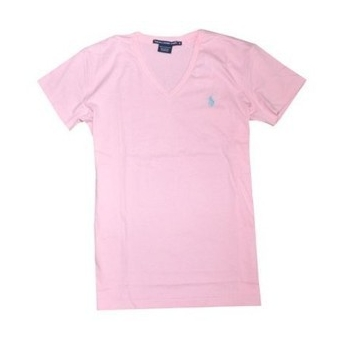 Polo Ralph Lauren Women S V Neck T Shirts Pink Billsoutlets
