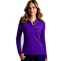 Lacoste Womens Classic Short Sleeve Polo Shirt - Purple