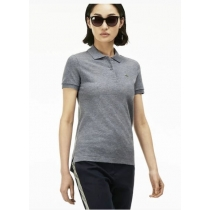 Lacoste Womens Classic Short edSleeve Polo Shirt - Gray