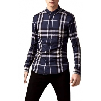 Burberry Brit  Men's Cotton Check Shirt Navy