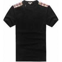 Burberry Men's   Crew Neck  Check Graphic Cotton T-Shirt
