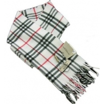 Burberry Exploded Giant Check Cashmere Scarf-White