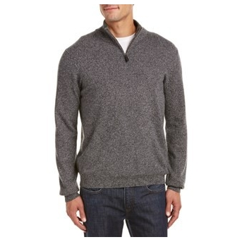LOCKHART CASHMERE Lockhart Cashmere 1/4-Zip Cashmere Pullover