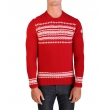 MONCLER Moncler Men's Virgin Wool Holiday Crewneck Sweater Red