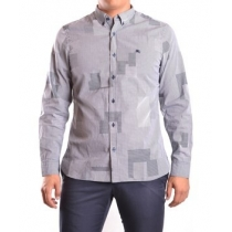 BURBERRY Burberry Men's Grey Cotton Shirt