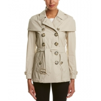BURBERRY Burberry Lightweight Cape Detail Trench Coat
