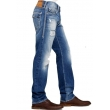 True Religion Men's Ricky Flap Pockets Distressed Straight Jeans