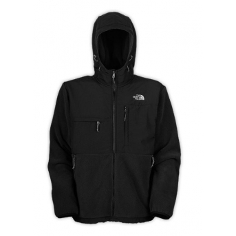 The North Face Men's Denali Fleece Hoodie Jacket Black