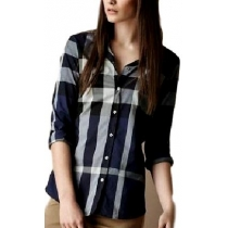 Burberry Women's Brit Check Shirt Navy