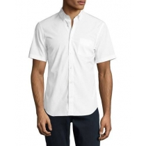 Burberrymen's Short  Sleeve Check Inner Collar  White