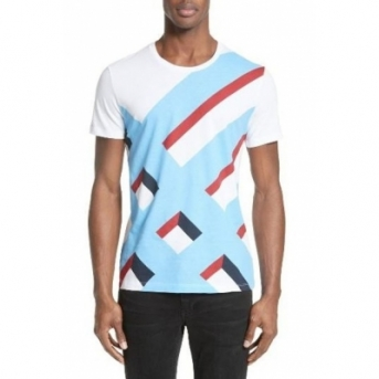 Burberry Wilmore Graphic Tee White Final Sale