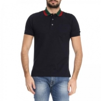 GUCCI Men's Polo Shirt Black