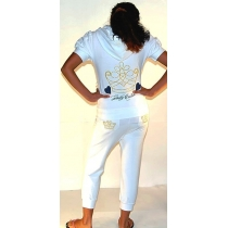 Juicy Couture Crown Capri Set White