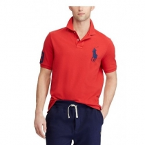 Ralph Lauren Big Pony 3 Short Sleeve Polo Shirt  Red