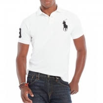 Ralph Lauren Big Pony 3 Short Sleeve Polo Shirt  White