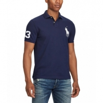 Ralph Lauren Big Pony 3 Short Sleeve Polo Shirt  Navy
