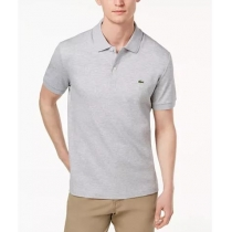 Lacoste Pique Polo Heather Gray