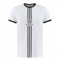Givenchy Men's Embroidered  Logo T-Shirt  White