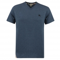 Burberry Brit Men's V Neck T- Shirt Heather
