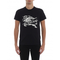 Burberry Men's Cruise Abtot black cotton T-shirt