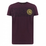 FENDI  Men's Stamp Monogram Tee Black