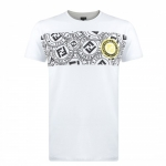 FENDI  Men's Stamp Monogram T Shirt White
