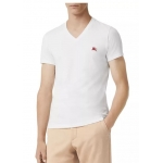 Burberry Men's V Neck T- Shirt White