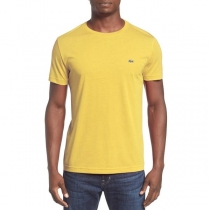Lacoste Men's Pima Cotton Crew -Neck T-Shirt Yellow