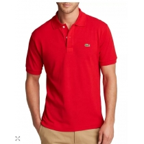 Lacoste Pique Polo Shirt  Red