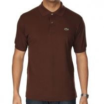 Lacoste Pique Polo Shirt  Brown