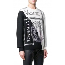 Versace Men Key Damier Wool Sweater Black/white