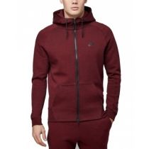 Nike Sportswear Club Fleece Men's Full Zip Hoodie & Pants Set Burgundy