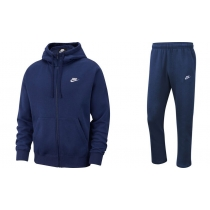 Nike Sportswear Club Fleece Men's Full Zip Hoodie & Pants Set Royal Blue
