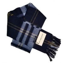 Burberry Exploded Giant Check Cashmere Scarf-Navy