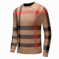 Burberry Men's Signature Check Crew Neck Sweater