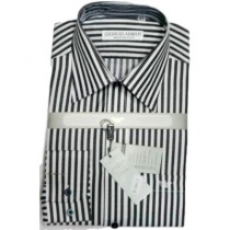 Giorgio Armani White/Ash Striped  Button Down Shirt Final Sale