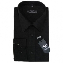 Giorgio Armani Men's  Solid Black Button Down Shirt