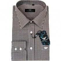 Armani Men's  Check Cotton Button Down Shirt