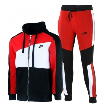 Nike Sportswear Club Fleece Zip  Hoodie & Pants Set Red